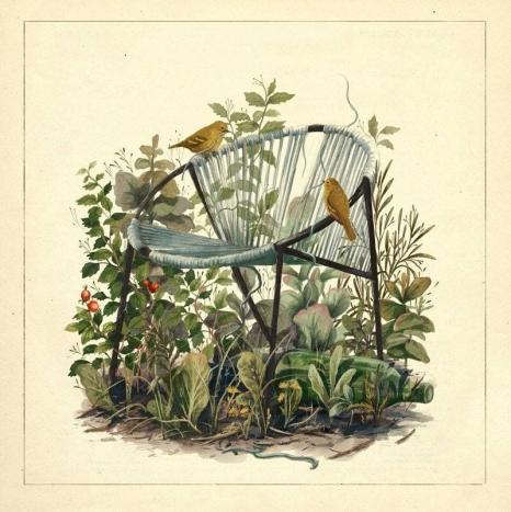 Fotel projektu Teresy Kruszewskiej na ilustracji autorstwa Emilii Dziubak