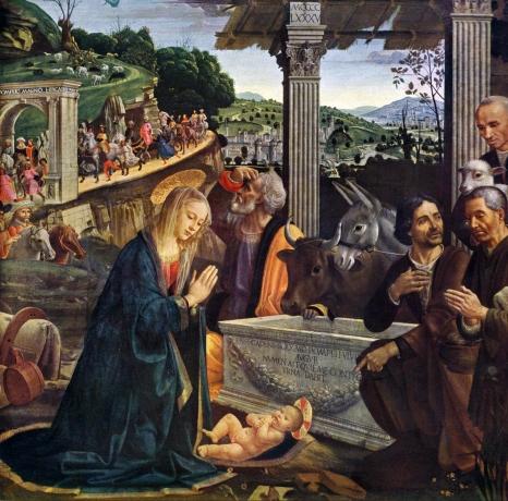 Adoracja Pasterzy Domenico Ghirlandaio