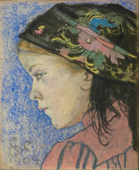Stanisław Wyspiański, Dziewczynka, 1904, pastel na papierze, ze zbiorów Muzeum Jacka Malczewskiego w Radomiu